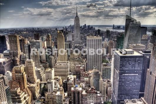 Фотообои Нью-Йорк в пасмурную погоду