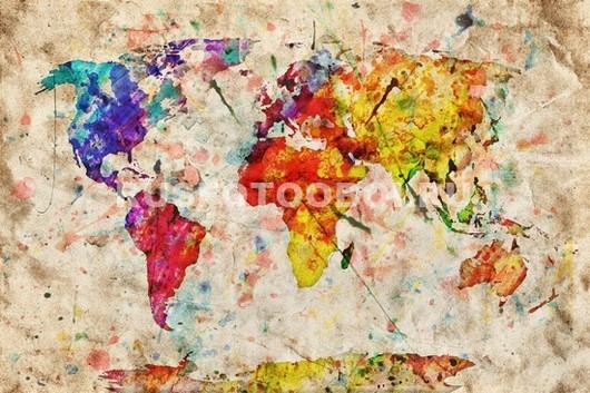 Карта мира цветная