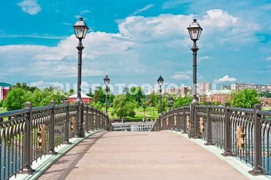 Зеленый мост в парке Царицыно