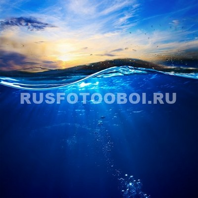 закат и глубь моря