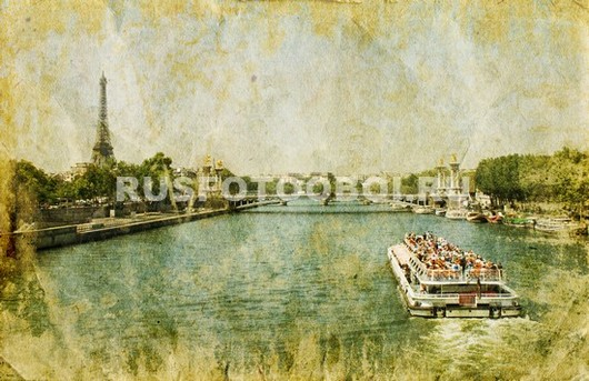 Фреска с видом на Париж