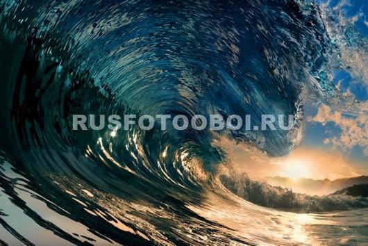 Фотообои Закат и волна