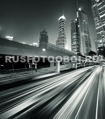 Ночной город в движении