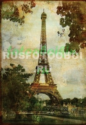 Эйфелева башня старая фреска