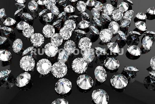 Бриллианты на черном фоне