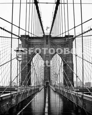 Дождь на Бруклинском мосту