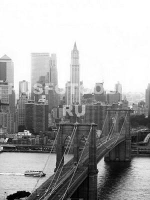 Нью-Йорк вид с высоты птичьего палета
