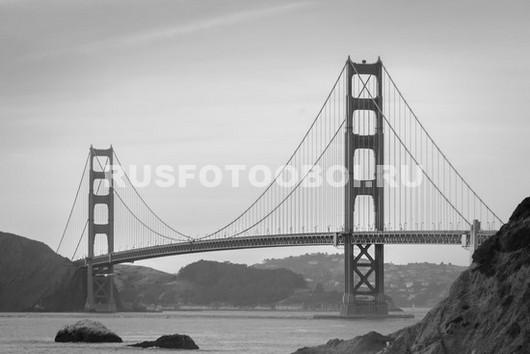 Мост Золотые ворота чб
