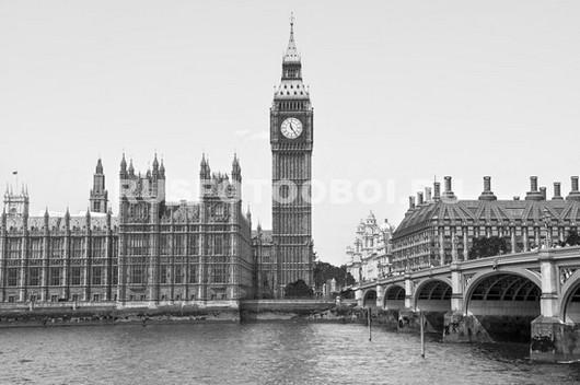 Лондон Биг Бен в пасмурную погоду