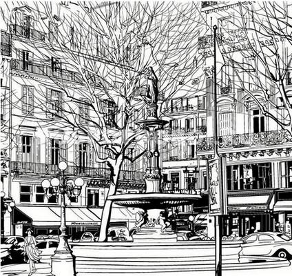 Рисунок города