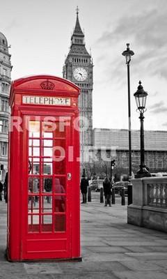 Красная таксофонная будка