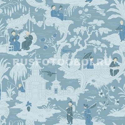 Синий японский узор