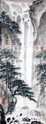 Осенний водопад в Японии