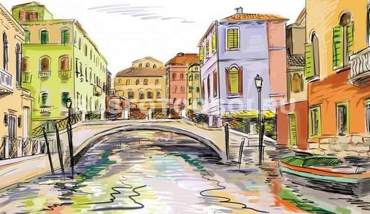 Рисунок Венеция