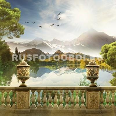 Терраса с видом на озеро