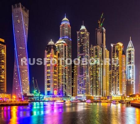 Фотообои Красивые небоскребы ночью