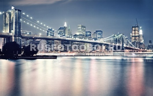 Бруклинский мост в пастельных тонах