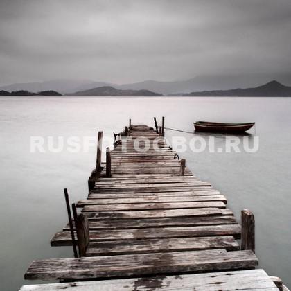 Фотообои Пирс с лодкой