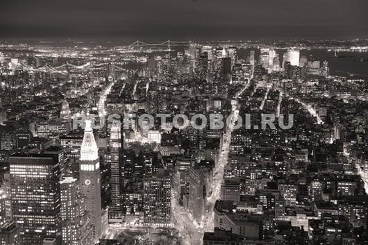 Фотообои Ночь в мегаполисе