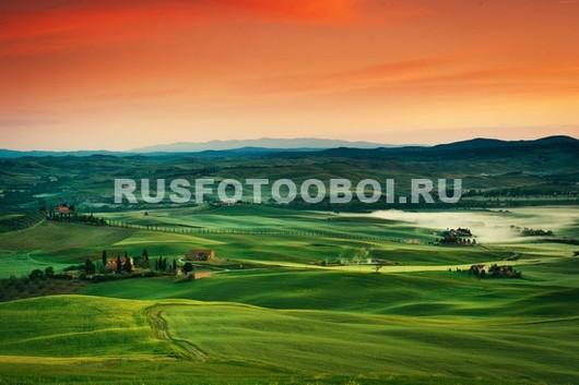Фотообои Закат над полем