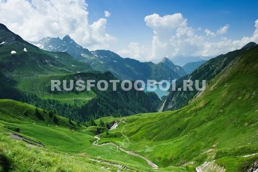 Зеленые луга в горах