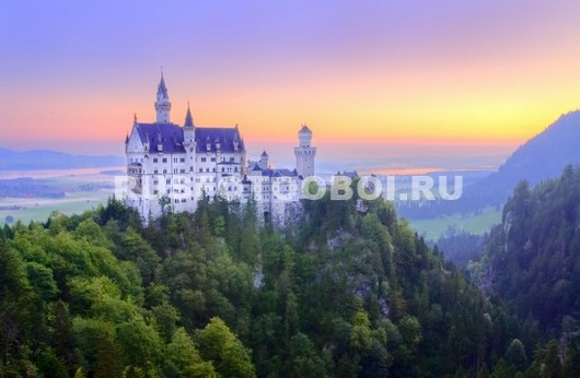 Замок на горе 3Д