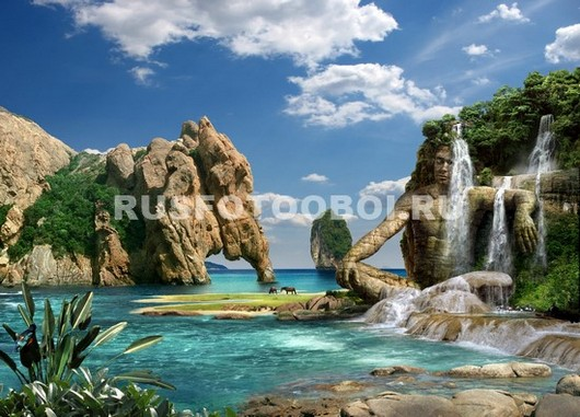 Волшебный водопад 3Д