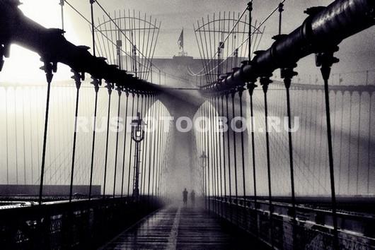Бруклинский мост в тумане 3Д