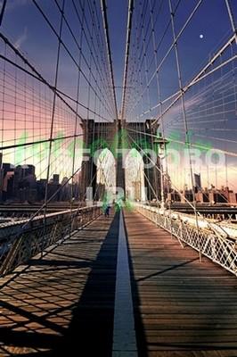 Бруклинский мост вечером 3Д