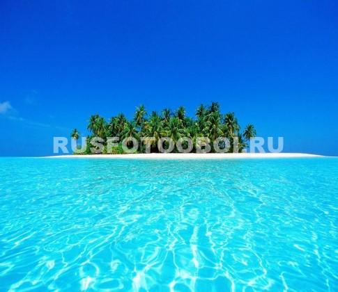 Фотообои Остров в море 3Д