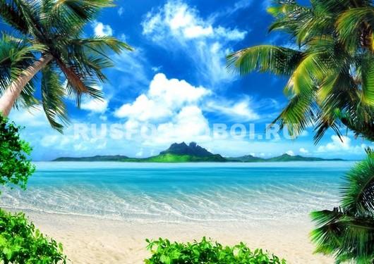 Уютный пляж 3Д