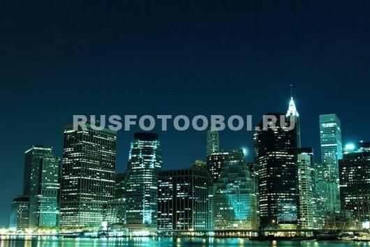 Фотообои Нью-Йорк в зеленых тонах
