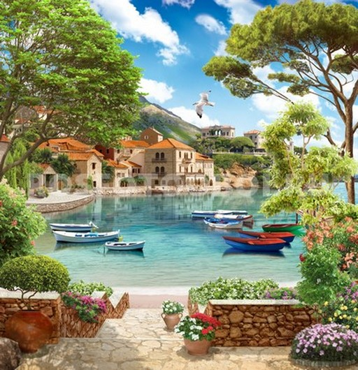 Терраса с видом на бухту