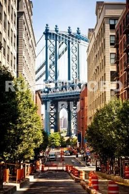 Улица с видом на Бруклинский мост