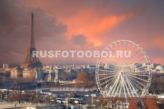 Вид сверху на Париж