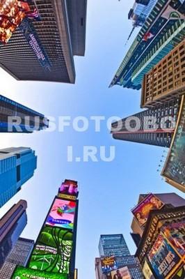 Верхушки небоскребов Нью-Йорка