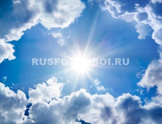 Солнце в облачном небе