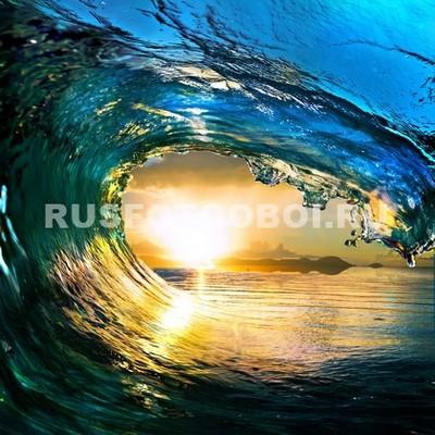 Фотообои Солнце под волной