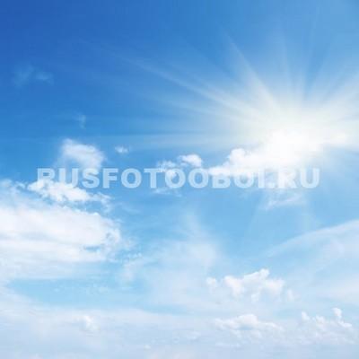 Солнце в голубом небе