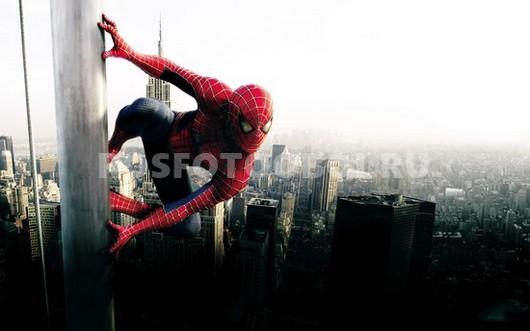 Фотообои Человек паук на небоскребе