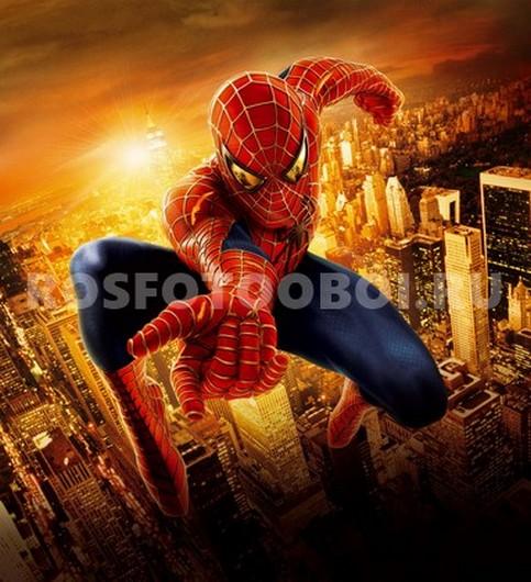 Фотообои Человек паук на лету