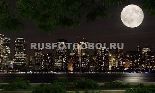 Фотообои Луна над городом