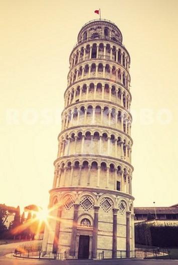 Пизанская башня на рассвете