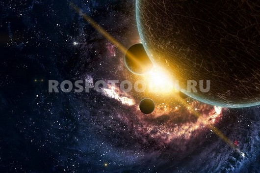 Солнце за планетой