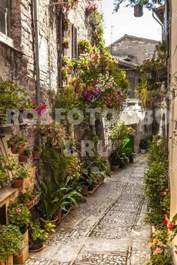 Узкая улочка в Испании