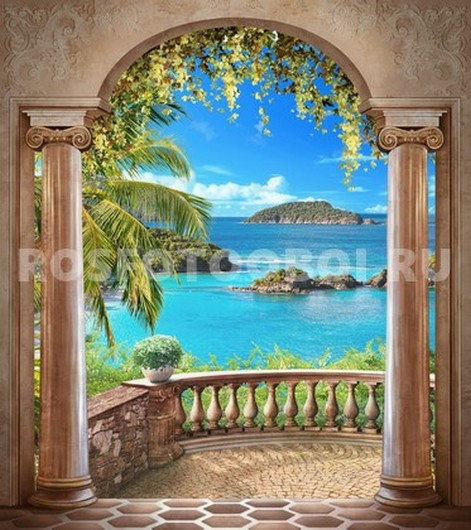 Терраса с видом на море