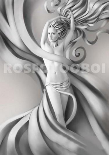 Девушка фреска