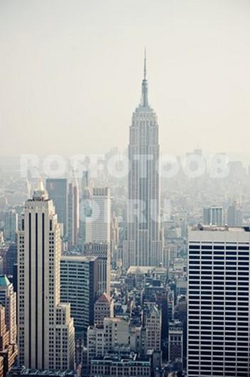Фотообои Нью-Йорк в тумане