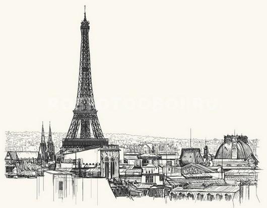 Рисунок чернилами Париж