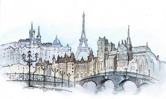 Рисунок Парижа